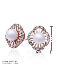 Laprapha summer style 18k gold plated earings fashion jewelry beads in gold rose stud earrings ear cuff jewellery
