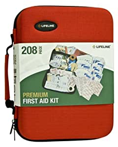 Lifeline 4038 Red Premium Hard Shell First Aid Kit - 208 Piece