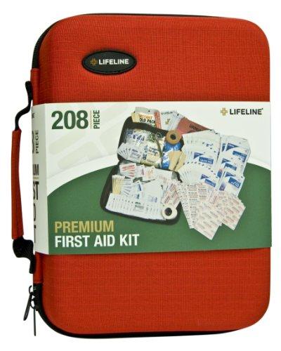 - Lifeline 4038 Red Premium Hard Shell First Aid Kit - 208 Piece
