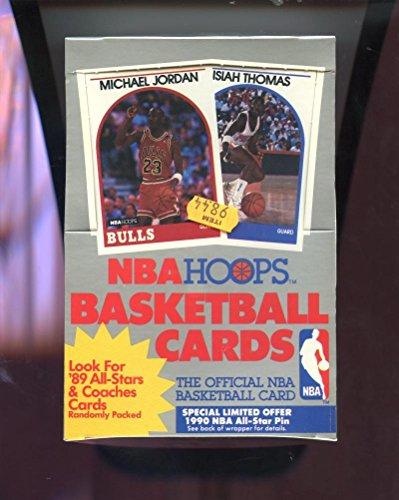 - 1989-90 Hoops Basketball Wax Pack Box Low Series 1 David Robinson Rookie
