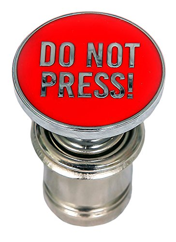 Kei Project Do Not Press Button Red Push Button Car Power Plug Cigarette Lighter 12-volt Accessory Fits Most Vehicles