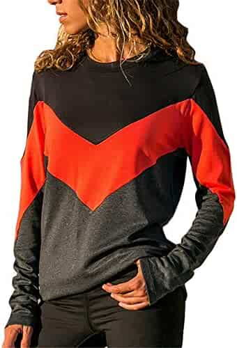 4eea6116 BeautyVan—Winter Clearance Sale ! Womens Tops Womens Sweatshirt O-Neck Long  Sleeve Blouse