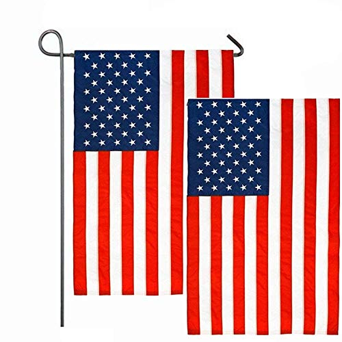"2 Pack American Flag, 12"" X 18"" US Flag, USA Garden Flag"