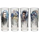 Zak Designs Star Wars The Last Jedi, 4-piece2 Ounce Shot Glass Set