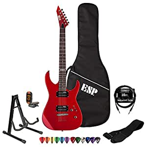 ESP LTD M10KIT-CAR Electric Guitar with 10 Feet Cable, Strap, Stand, Tuner, DVD, ChromaCast Pick Sampler and ESP Gig Bag