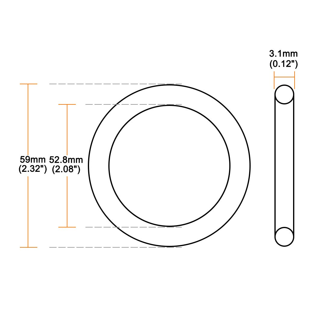 sourcing map O-Rings Nitrile Rubber 21mm Inner Diameter 29mm OD 4mm Width Round Seal Gasket