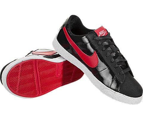 NIKE Kids Blazer Low QS (GS) Black/Speed Red/Bleached Coral Skate Shoe 5.5 Kids US by NIKE (Image #2)