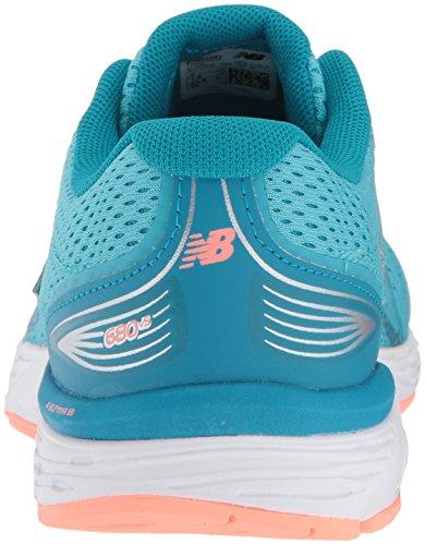 New Balance Girls' 680v5 Running Shoe, Ozone Blue/Fiji, 12 M US Little Kid by New Balance (Image #2)