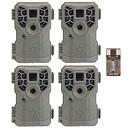 Stealth Cam PX14X P Series Digital Scouting Trail Game Camera (10MP), 4-Pack with Focus USB Reader