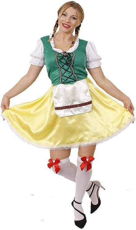 I LOVE FANCY DRESS LTD Disfraz DE Mujer BAVARA Verde Y Amarillo ...
