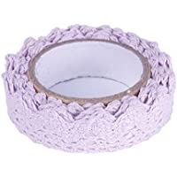 FANMURAN Fabric Lace Sticker Tape Arts And Crafts With Woven Tape Sticker Purple
