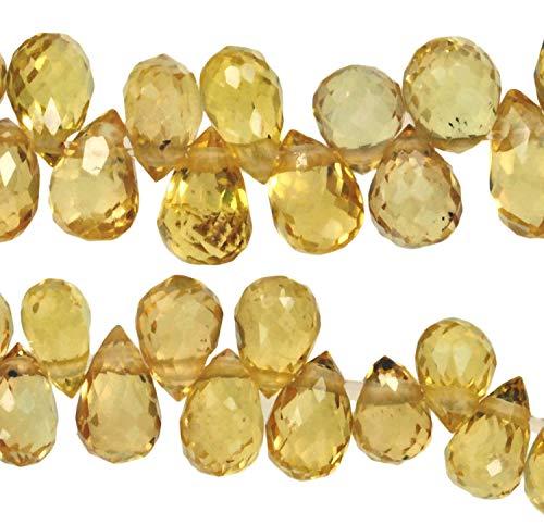 (Yellow Songea Sapphire Beads for Expert Stringers Songea 3mm-4.5mm Very Tiny 5 Inch)