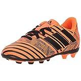 adidas Performance Boys' Nemeziz 17.4 FxG J Soccer-Shoes, Solar Orange/Black/Solar Orange, 2.5 M US Little Kid