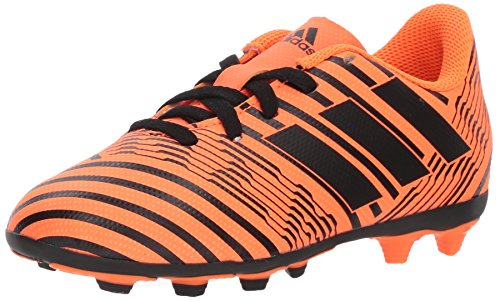 adidas Performance Boys' Nemeziz 17.4 FxG J Soccer Shoe, Solar Orange/Black/Solar Orange, 6 M US Big Kid