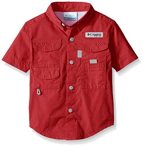 Columbia Boys Bonehead Short Sleeve Shirt, 2 Tall, Sunset Red