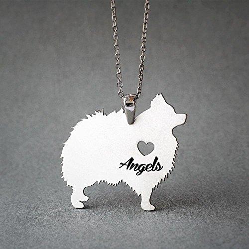 Pomeranian Necklace - Personalised Pomeranian Necklace - Pomeranian Name Jewelry - Dog Jewelry - Dog breed Necklace - Dog Necklaces