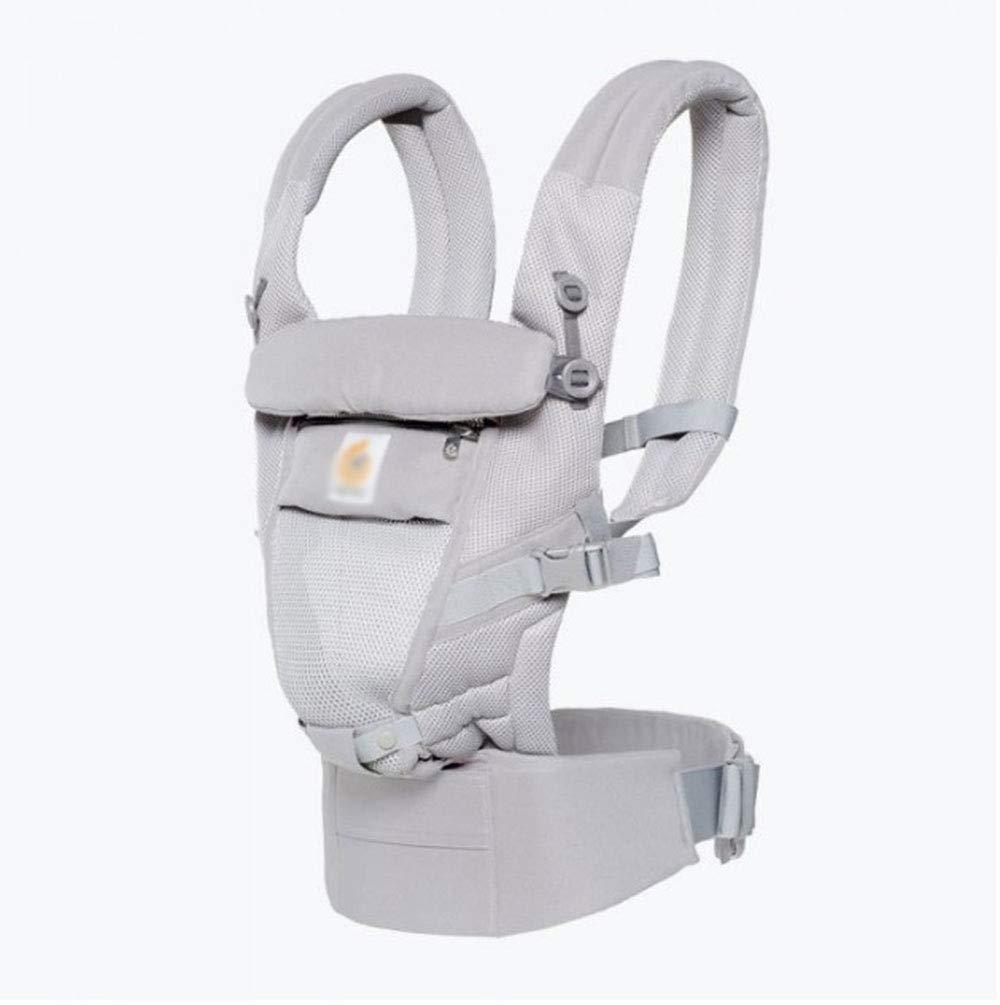 CPDZ Outdoor Travel Baumwoll Babyträger Abnehmbare Baby-Träger Komfortabel Und Ergonomisch Kind Und Neugeborene Sling Multi-Position Tragen Sling Hellgrau