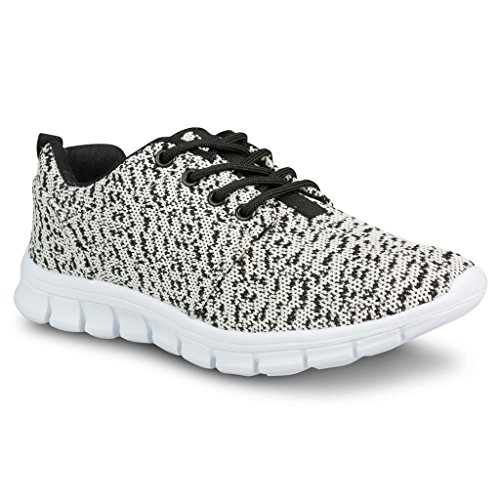 Black Twisted Womens REESE Fashion Running Cream Knit Athletic Sneaker ZqAqx4wH