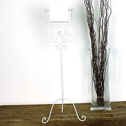 Rollos de papel higiénico Dispensador de flores marfil diseño de baño vintage color beige