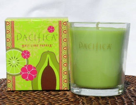 Pacifica Bali Lime Papaya 10.5 oz Soy Boxed Glass Candle ()