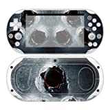 CSBC Skins Sony PS Vita 2000 Design Foils Faceplate Set - Bullet Holes Design