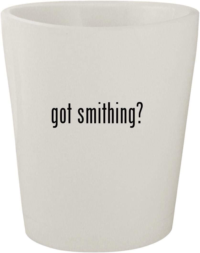got smithing? - White Ceramic 1.5oz Shot Glass