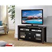 151282 47 Smart Home Black Dark Taupe Home Entertainment Center Console TV Stand