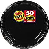 Big Party Pack Jet Black Plastic Plates