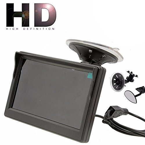 umUXHxk 800480 TFT LCD HD Screen Monitor for Car Rear Reverse Rearview Backup Camera Supports Car DVD, VCD, 5