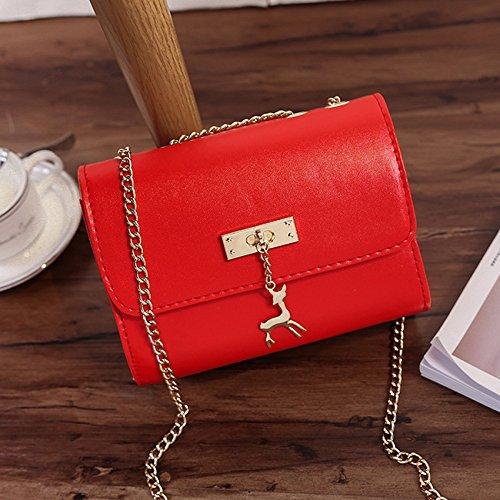 Size Small B Bags Aassddff Belt Shoulder Pu Messenger Bag Handbag Bags Black Women Women Handbag Small Bags Chain Female C Red Women wTTtU