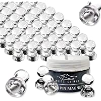 50 Pack Kaiman Magnetic Push Pins (Clear)