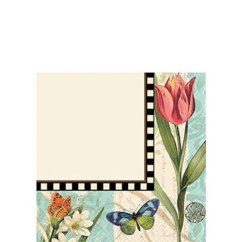 floral beverage napkins - 4