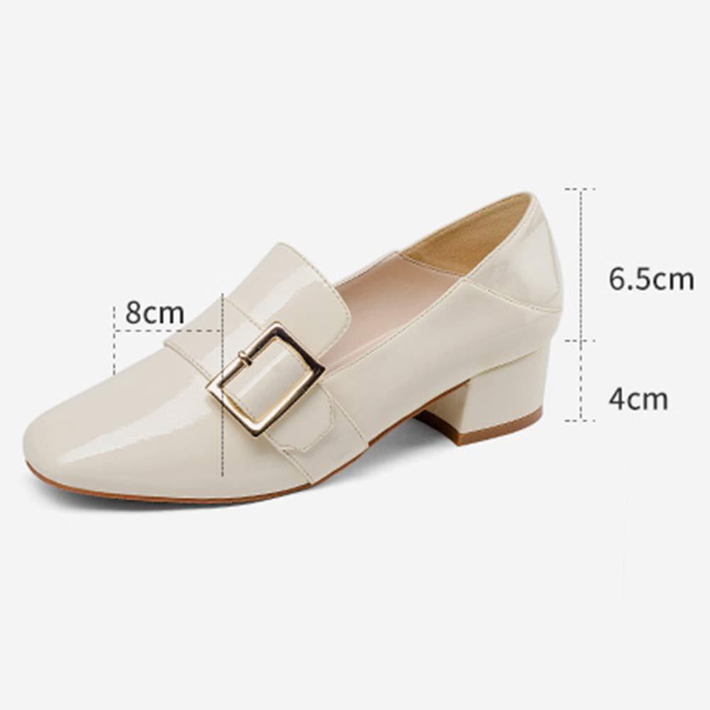 Damenschuhe HWF Klassische Slip-On-Schuhe aus Leder mit mit mit spitzer Zehenpartie (Farbe   Beige größe   39) 76e005
