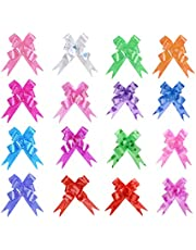 Penta Angel Pull Bows with Ribbon 160Pcs Colored Basket Gift Wrapping String Pull Bows for Christmas Wedding Thanksgiving Birthday Parties Baby Shower Present