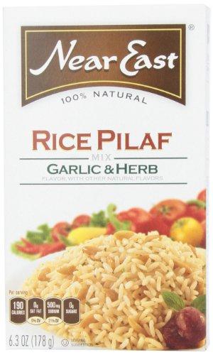 Proche-Orient ail et fines herbes, riz pilaf Mix boîtes 6,3 onces (pack de 12)