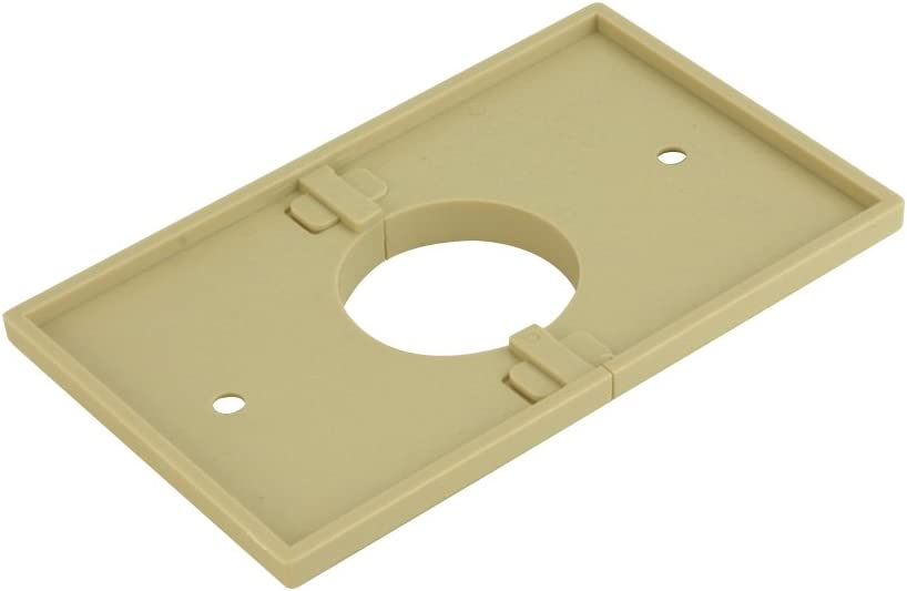 Ivory 1.375 Inch Hole Split Single Gang Plate