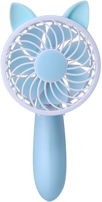 USB Table Desk Personal Fan Portable Desk USB Fan Handheld Super Quiet Perfect Table Small Size 3 Speeds Personal Fan for Home Office and Dorm for Home Office Table Color : Blue