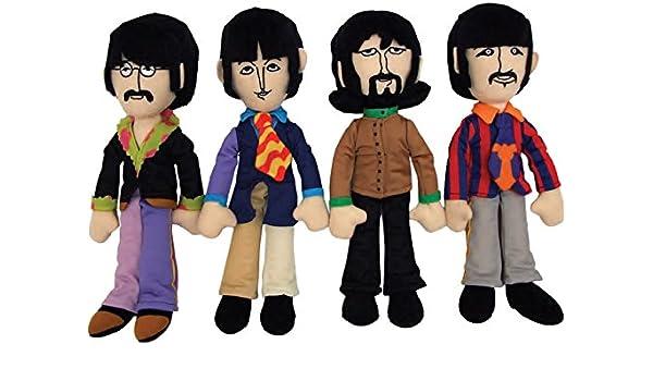 The Beatles de peluche figuras de John, Paul, George & Ringo band member peluche Diseño de Yellow Submarine 30 cm estatuilla: Amazon.es: Juguetes y juegos