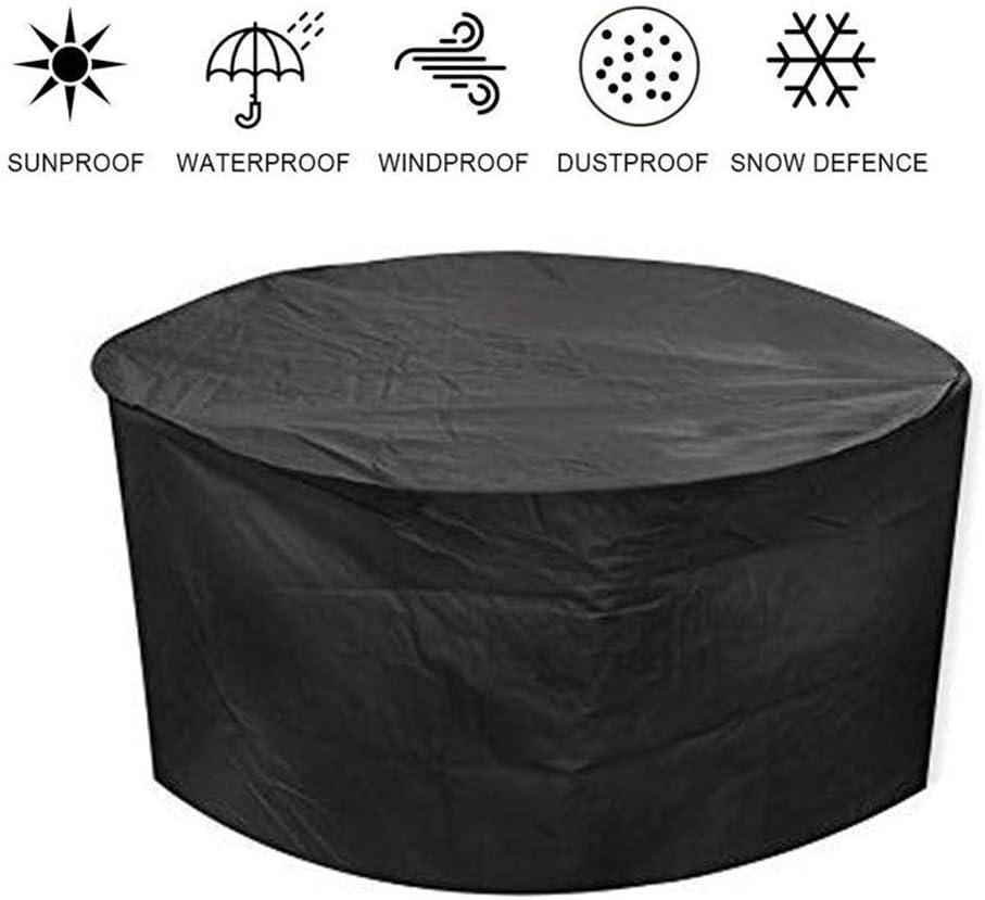 WWWANG - Funda para muebles de ratán para invernadero, plegable, impermeable, tela Oxford, 2 colores, 26 tamaños, personalizable 300x230x70cm Negro