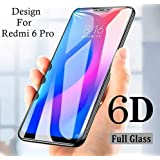 Redmi 6 Pro Screen Protector, Anti Blue Light [Eye Protect] 9H Hardness 3D Touch Compatible Shockproof Anti-Scratch, Tempered Glass for Xiaomi Redmi 6 pro (6D Glass)