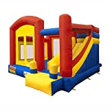 bounce house commercial - ALEKO BHPGROUND Inflatable Commercial Dual Slide Bouncy Bounce House Jump and Slide Bouncer with UL Approved Blower 13 x 12 x 9 Feet