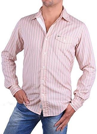 Ralph Lauren Camisa De Hombre Salmon De Rayas Talla S - Rosa / Blanco / Verde de rayas, S: Amazon.es: Ropa y accesorios