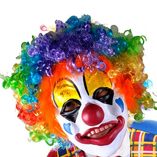 SGS Party Clown Mask Foam Latex with Hair - Clown Masks For Kids