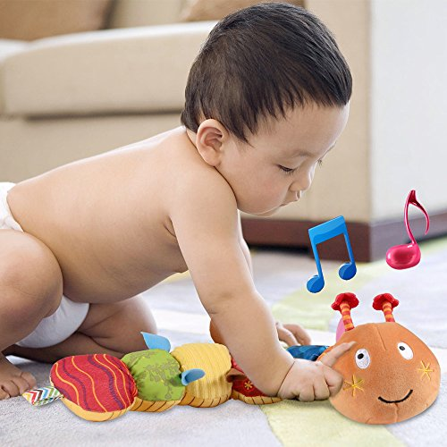 LIGHTDESIRE Musical Toy Caterpillar [Newest] Crinkle Rattle Soft with Ring Bell Toddler Plush Toy for Preschool Kid by LIGHTDESIRE (Image #5)