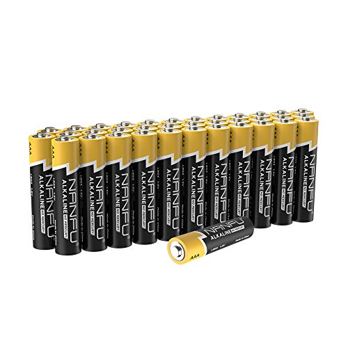 NANFU No Leakage Long Lasting AAA 36 Batteries [Ultra Power]