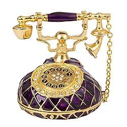 T3 Vintage Style Telephone Shape Jewelry Trinket Box