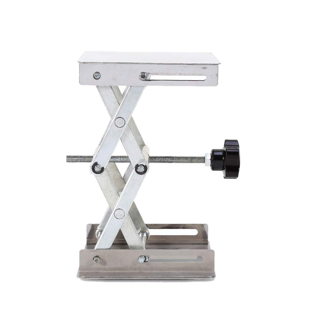 Lab Stand Table Scissor Lift,Stainless Steel Laboratory Lifting Platform Stand Scissor Rack Jack Lab-Lift for Height Adjustment Scientific Lab 100X100mm by Jectse (Image #4)