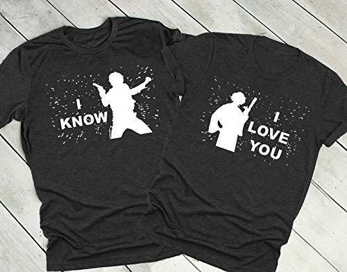Star Wars Couple Matching Shirts, his and hers Shirts, Disney Star wars -