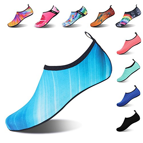 91ab2072c2e90 IceUnicorn Water Shoes Mens Womens Outdoor Swim Barefoot Socks Skin Shoes  for Beach Running Snorkeling Surfing Diving Yoga Exercise