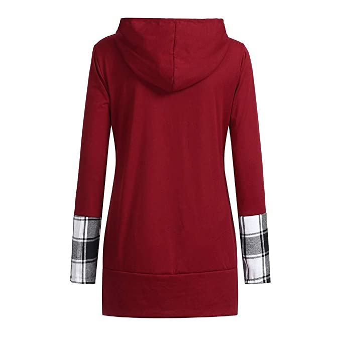 Amazon.com: Sale for Coat,AIMTOPPY Womens Casual Long Sleeve Hooded Long Plaid Top: Computers & Accessories